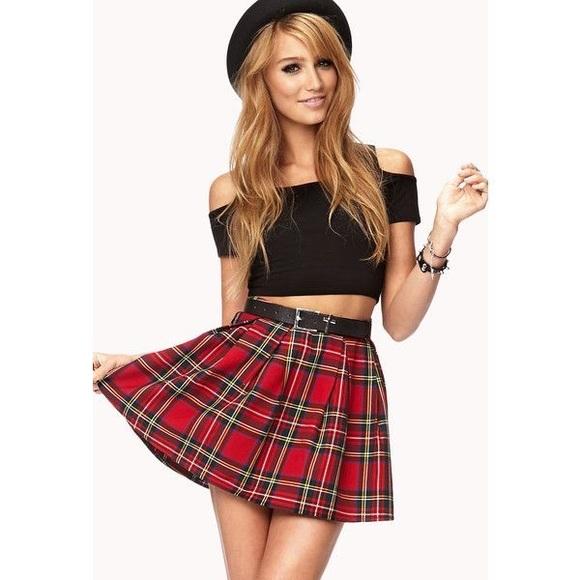 e1526953d4c342 Forever 21 Dresses & Skirts - Tartan Red Plaid Forever 21 Mini School Girl  Skirt